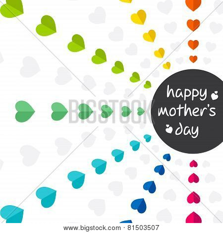 colorful mothers day greeting design vector