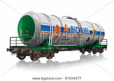 Railway tankcar with biofuel