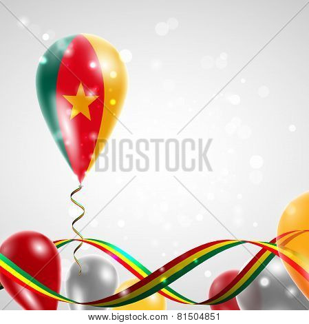 Flag of Cameroon on balloon