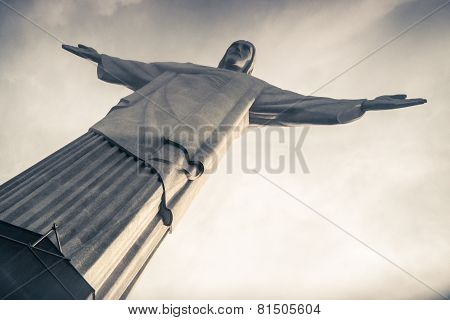 Christ The Redeemer (cristo Redentor) In Rio, Brazil.