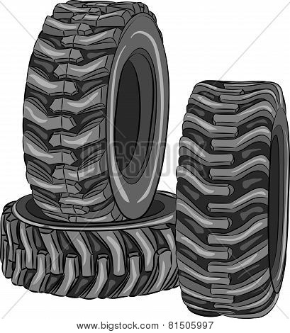 Vector Car Tires.