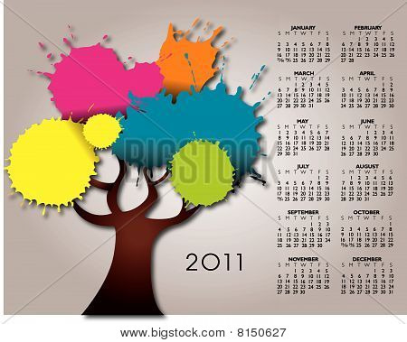 2011 stylish calendar