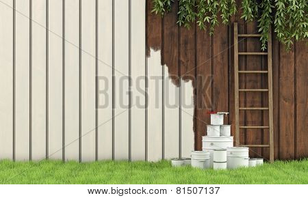 Painting The Garden Fence