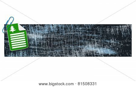 Banner With Scratches Background And Document