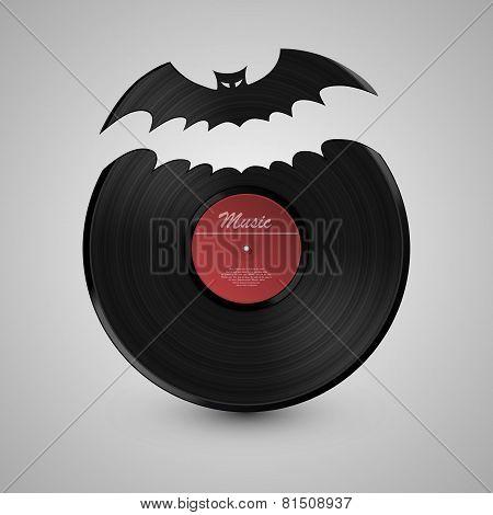 Bat vinyl disk