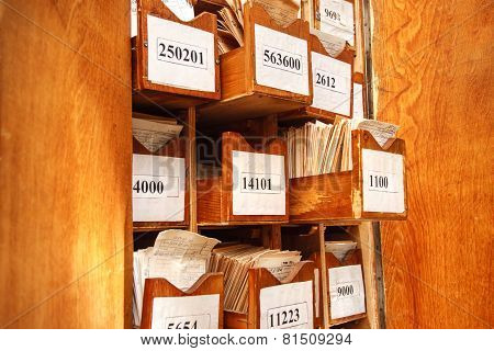 Drawer With Business Papers