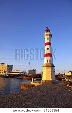Old Lighthouse In Malmo City, Sweden
