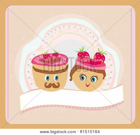 Illustration Of A Cute Pair Of Cookies