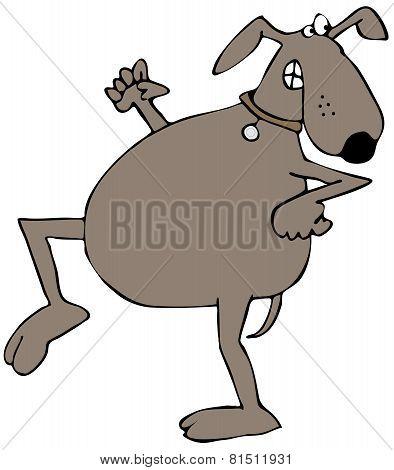 Sneaky dog cartoon