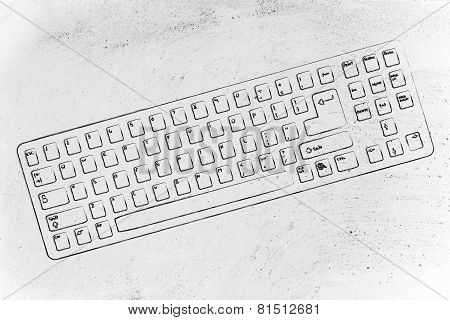 Illustration Of Qwerty Computer Keyboard