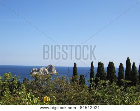 Gurzuf In Crimea, Black Sea