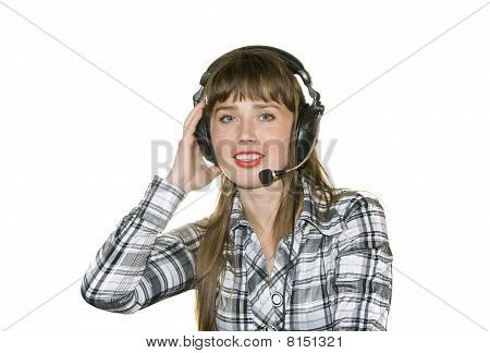 Girl In Earphone