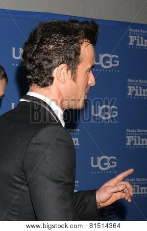 SANTA BARBARA - JAN 30:  Justin Theroux at the Santa Barbara International Film Festival - Montecito Award at a Arlington Theater on January 30, 2015 in Santa Barbara, CA