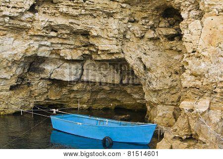 Boat Near Rock
