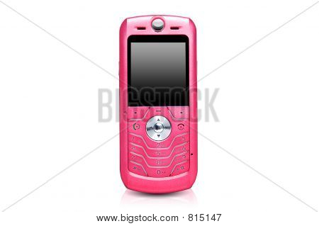 Pink cell phone
