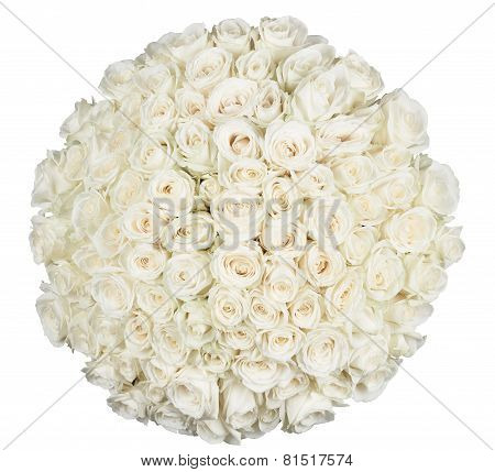 Round Shape Of Roses