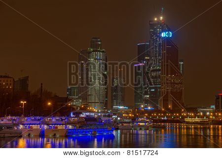 Hdr Image Of The Moscow City
