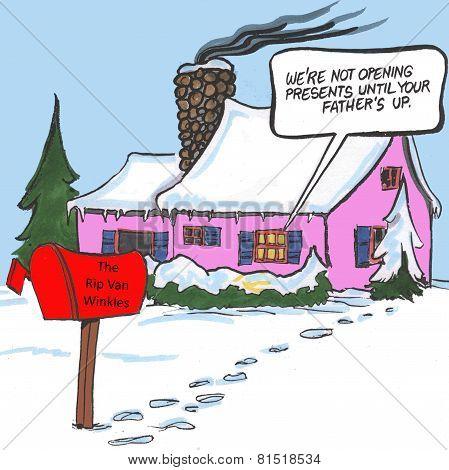 Rip Van Winkle at Christmas