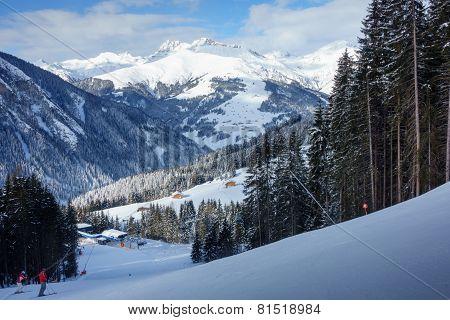 Ski resort in the ziller valley