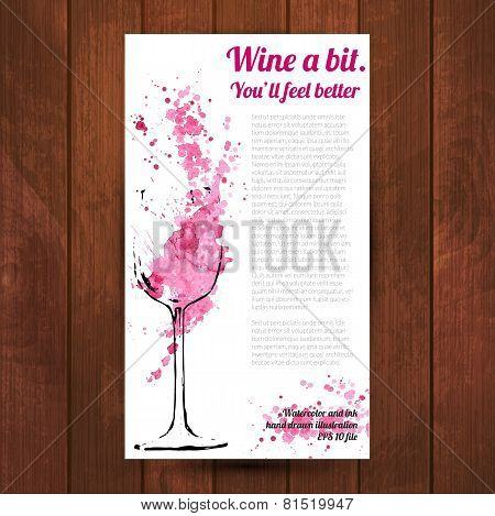 Wine splash and blots concept