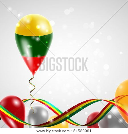 Lithuanian flag on balloon