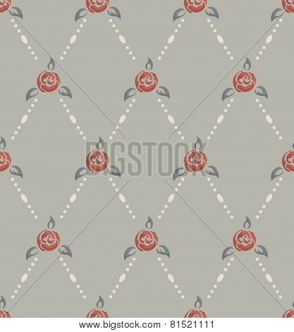 Rose And Pearl Pattern Retro