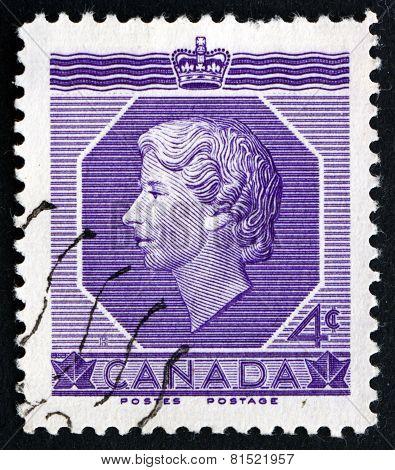 Postage Stamp Canada 1953 Queen Elizabeth Ii
