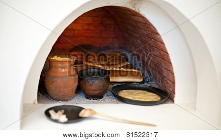Big Stove With Food Inside