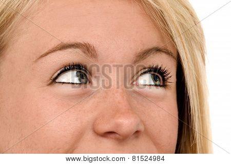 Female Eyes Looking Up