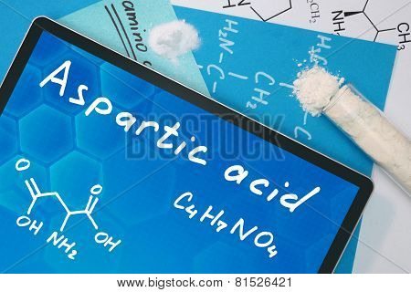 Tablet with the chemical formula of  Aspartic acid