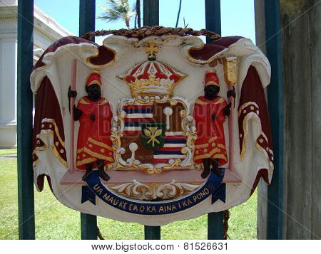 Historic Royal Seal At Iolani Palace