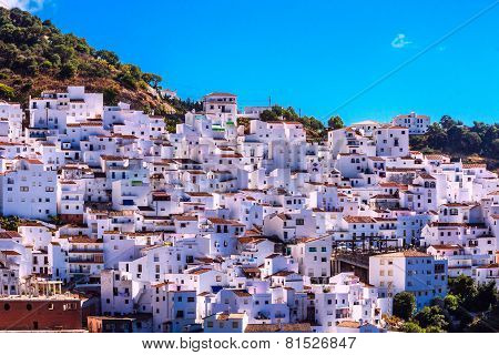 Casares , white village in Andalusian Mountains, Spain