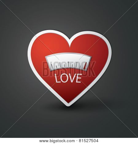 Love Meter - Heart Design Icon