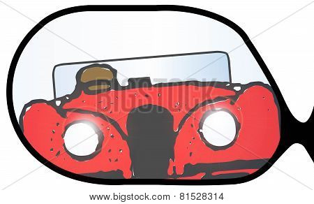 Overtaking Sports Car