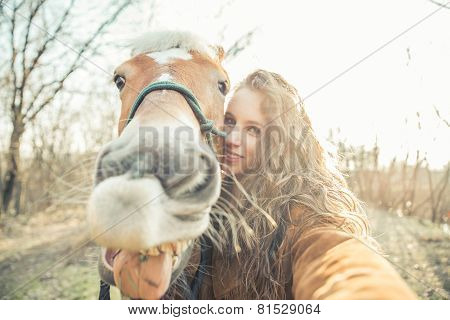 Selfie With Funny Face Horse