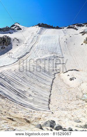 Geotextile Fabrics In Presena Glacier