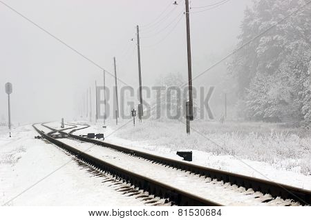 railway  winter season.