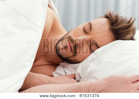Man Sleeping.
