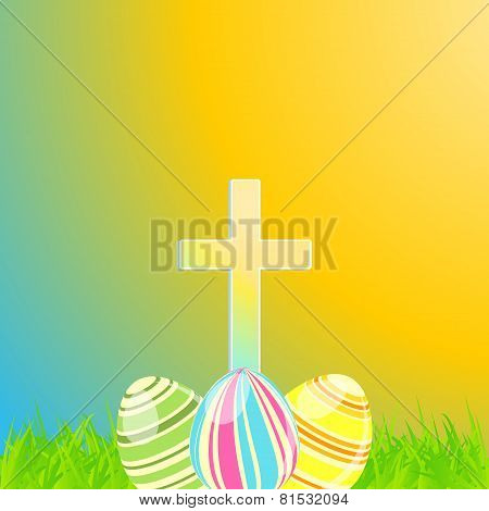 Easter Cross and Eggs