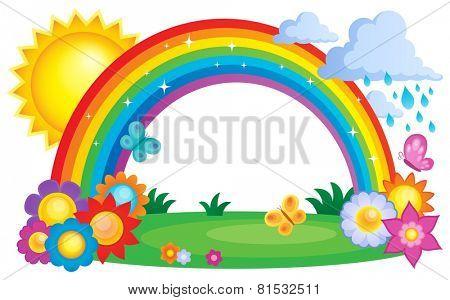 Rainbow topic image 2 - eps10 vector illustration.