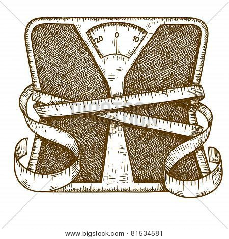 Engraving Bathroom Scale