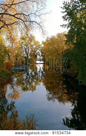 Reflections Of Autumn At Botanical Garden