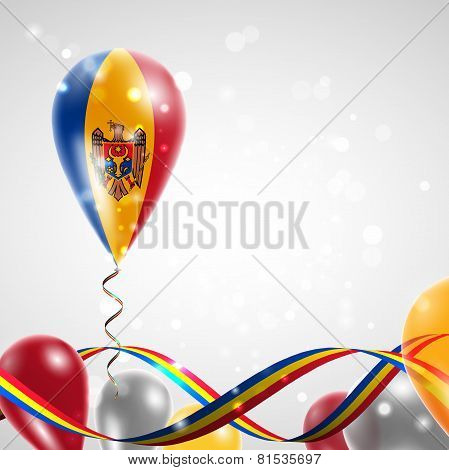 The flag of Moldova on balloon