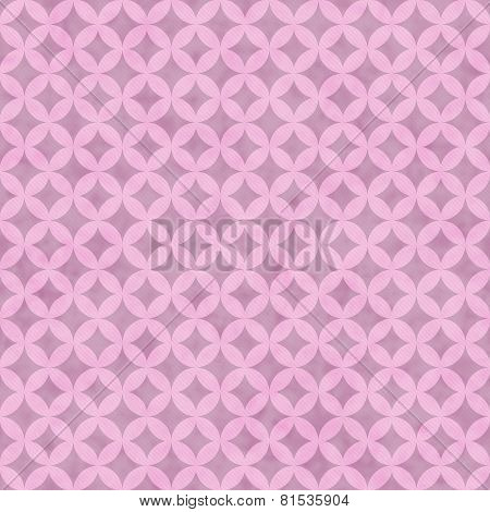 Pink Interconnected Circles Tiles Pattern Repeat Background