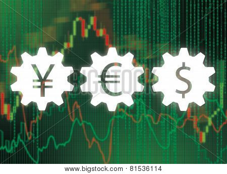 Gears With Money Symbol
