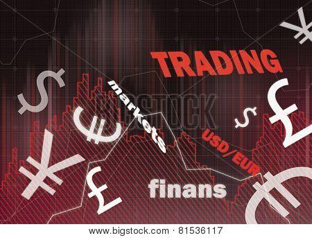 Charts And Money Symbol