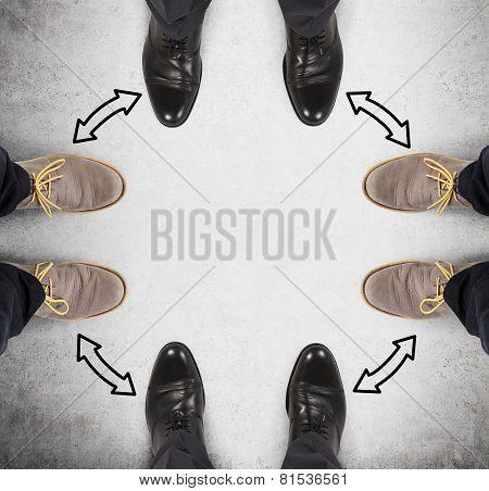 Four Businessman Leg