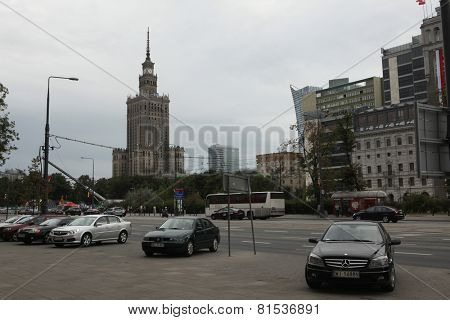 WARSAW, POLAND - JULY 31, 2013: Palace of Culture and Science in Warsaw, Poland.