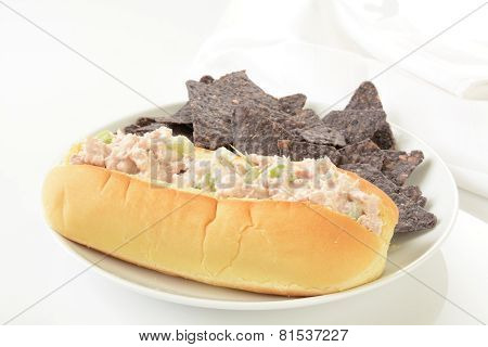 Tuna Sandwich With Corn Chips