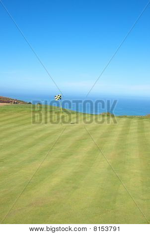 Golf Course Landscape By The Ocean